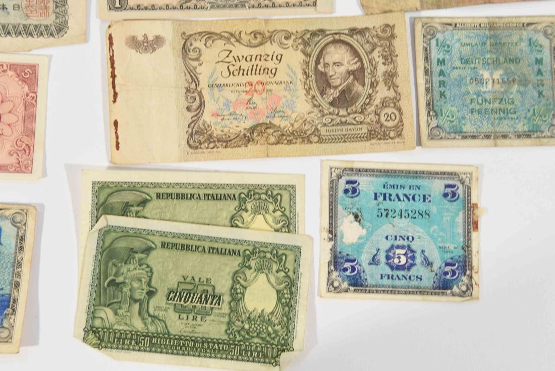 GROUPING OF VINTAGE BANK NOTES, ETC. - 2