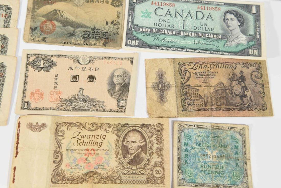 GROUPING OF VINTAGE BANK NOTES, ETC. - 3