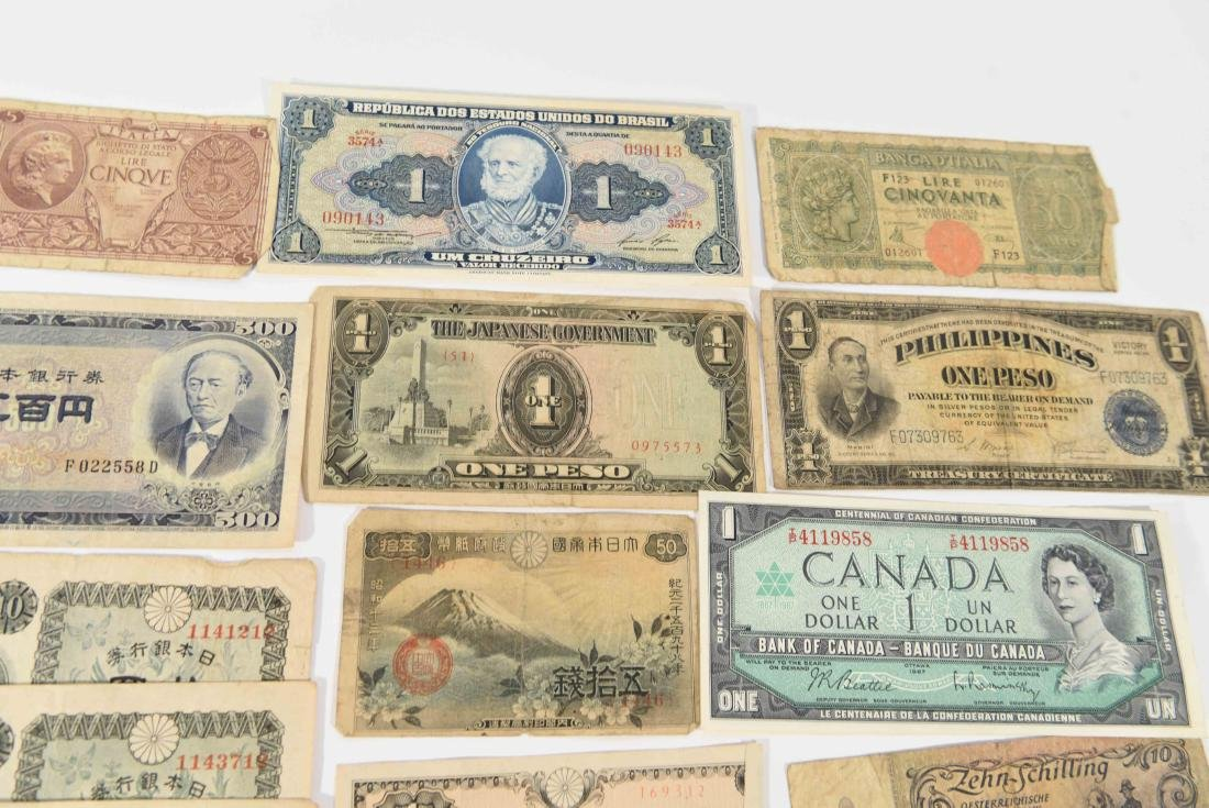 GROUPING OF VINTAGE BANK NOTES, ETC. - 4