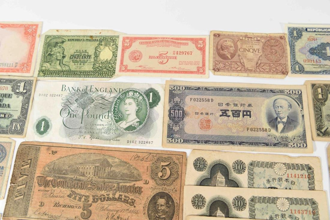 GROUPING OF VINTAGE BANK NOTES, ETC. - 5
