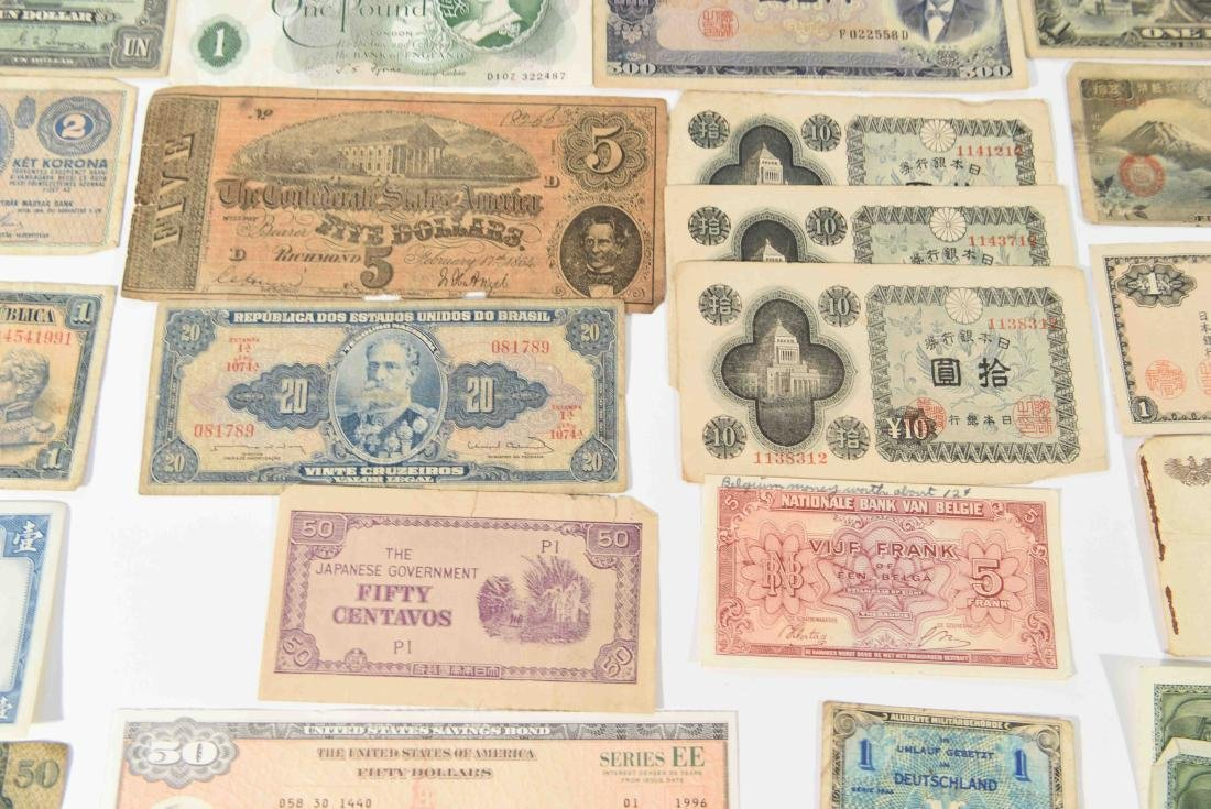 GROUPING OF VINTAGE BANK NOTES, ETC. - 6
