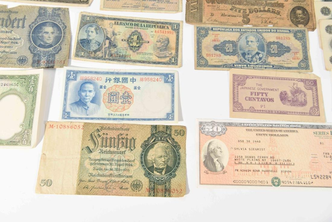 GROUPING OF VINTAGE BANK NOTES, ETC. - 7