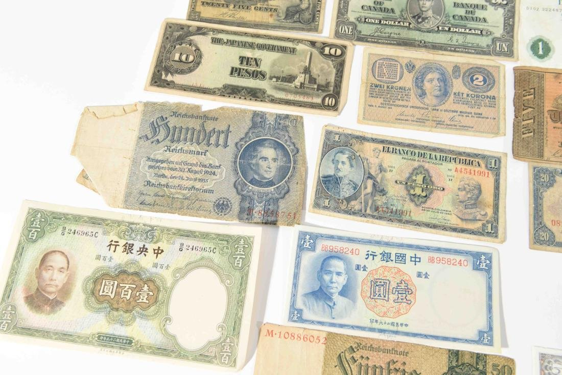 GROUPING OF VINTAGE BANK NOTES, ETC. - 8