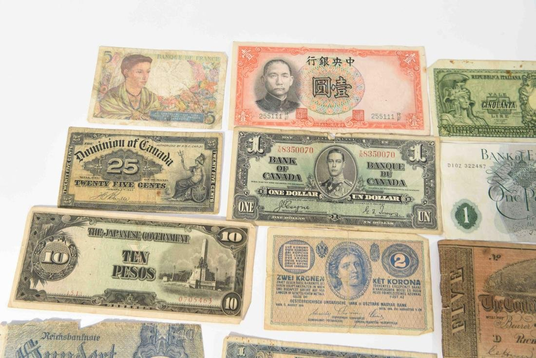 GROUPING OF VINTAGE BANK NOTES, ETC. - 9