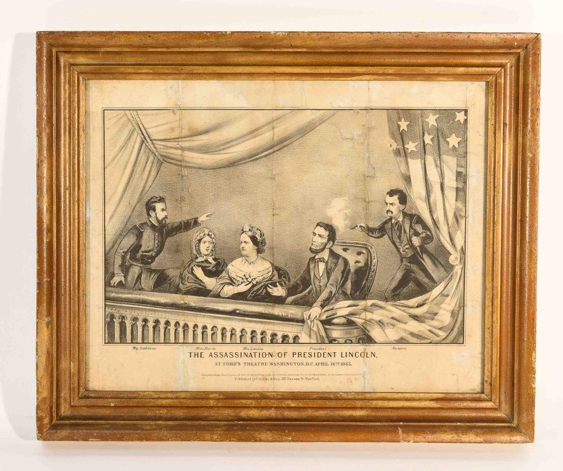 CURRIER AND IVES PRINT LINCOLN ASSASSINATION