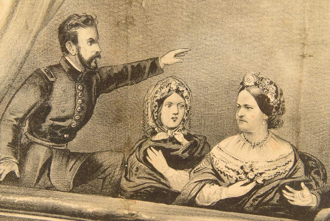 CURRIER AND IVES PRINT LINCOLN ASSASSINATION - 2