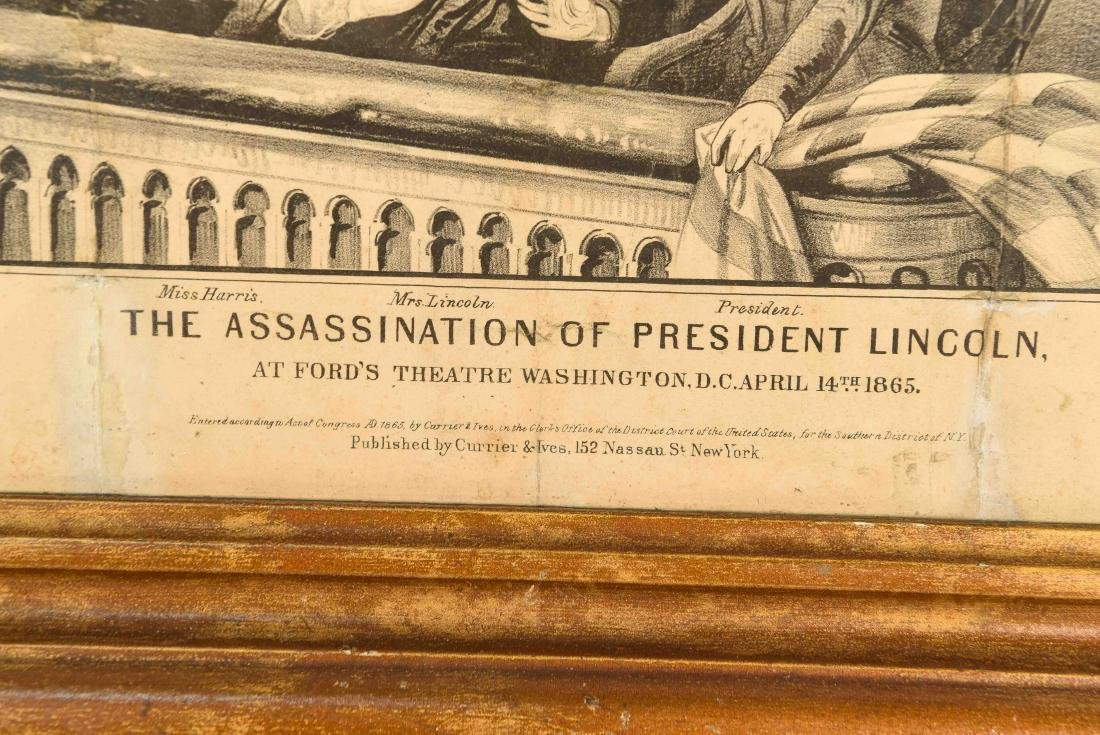 CURRIER AND IVES PRINT LINCOLN ASSASSINATION - 4
