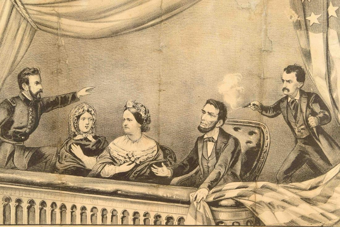CURRIER AND IVES PRINT LINCOLN ASSASSINATION - 7