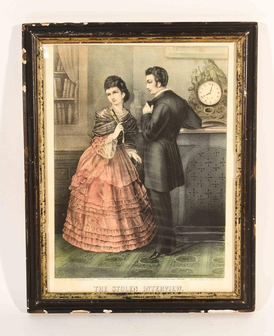 """CURRIER AND IVES """"THE STOLEN INTERVIEW"""" PRINT"""