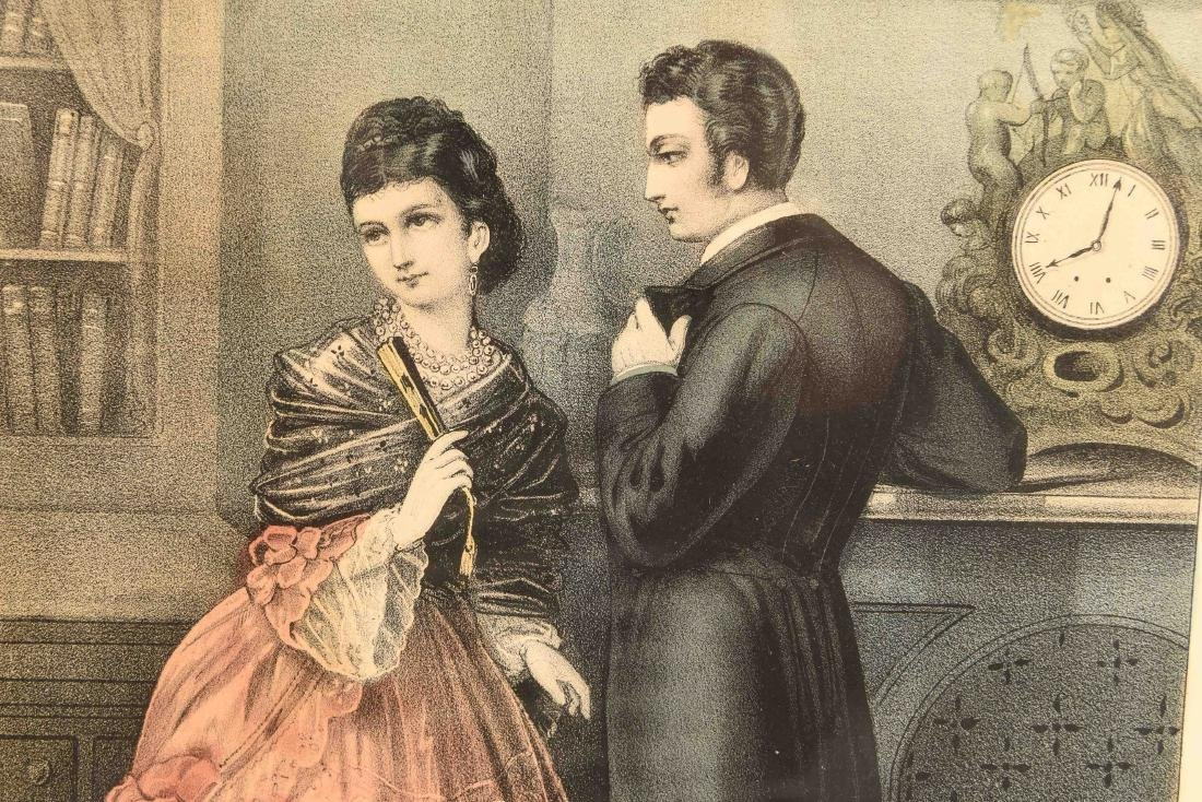 """CURRIER AND IVES """"THE STOLEN INTERVIEW"""" PRINT - 3"""