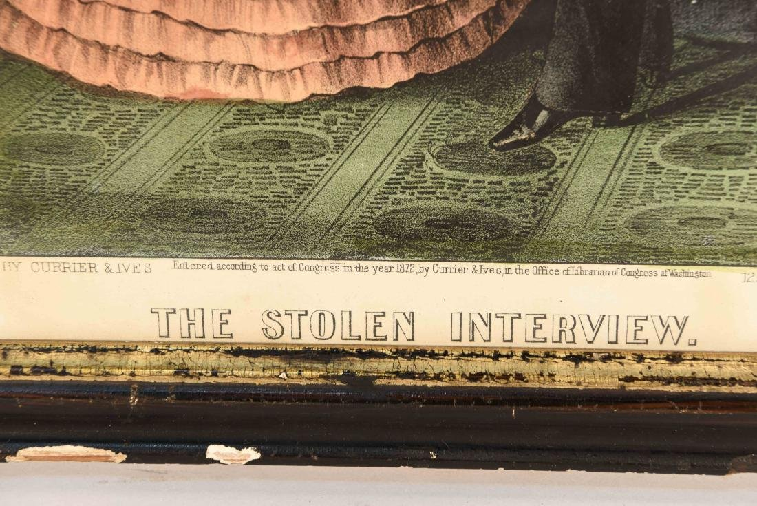 """CURRIER AND IVES """"THE STOLEN INTERVIEW"""" PRINT - 5"""