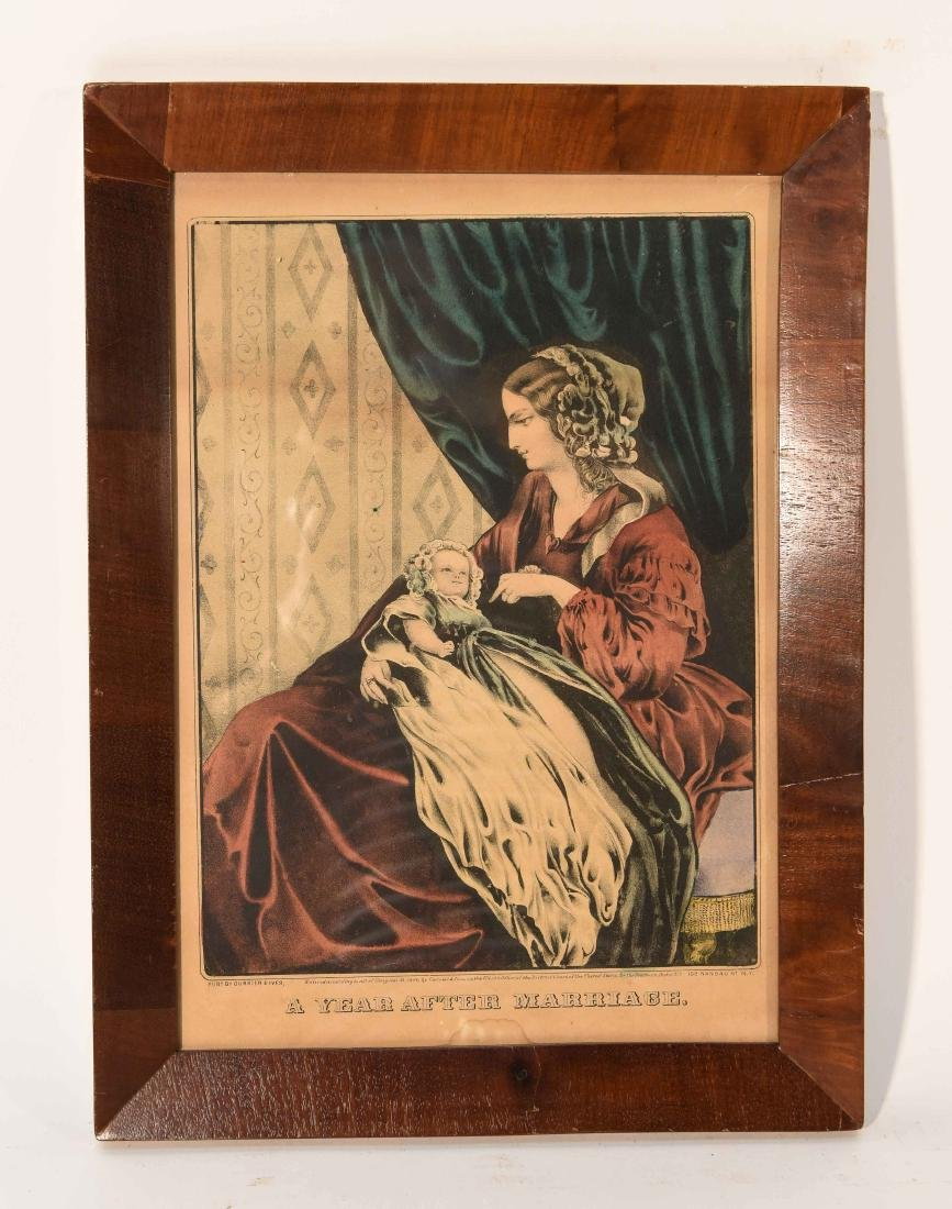 """CURRIER AND IVES """"A YEAR AFTER MARRIAGE"""" PRINT"""