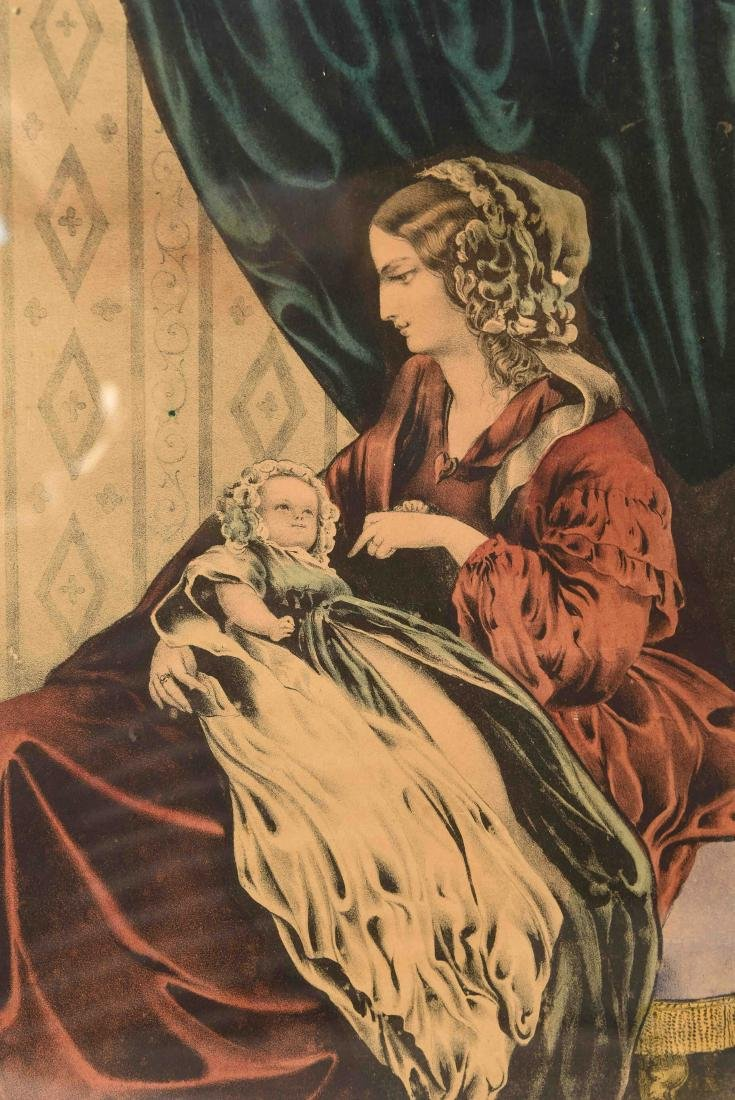 """CURRIER AND IVES """"A YEAR AFTER MARRIAGE"""" PRINT - 2"""