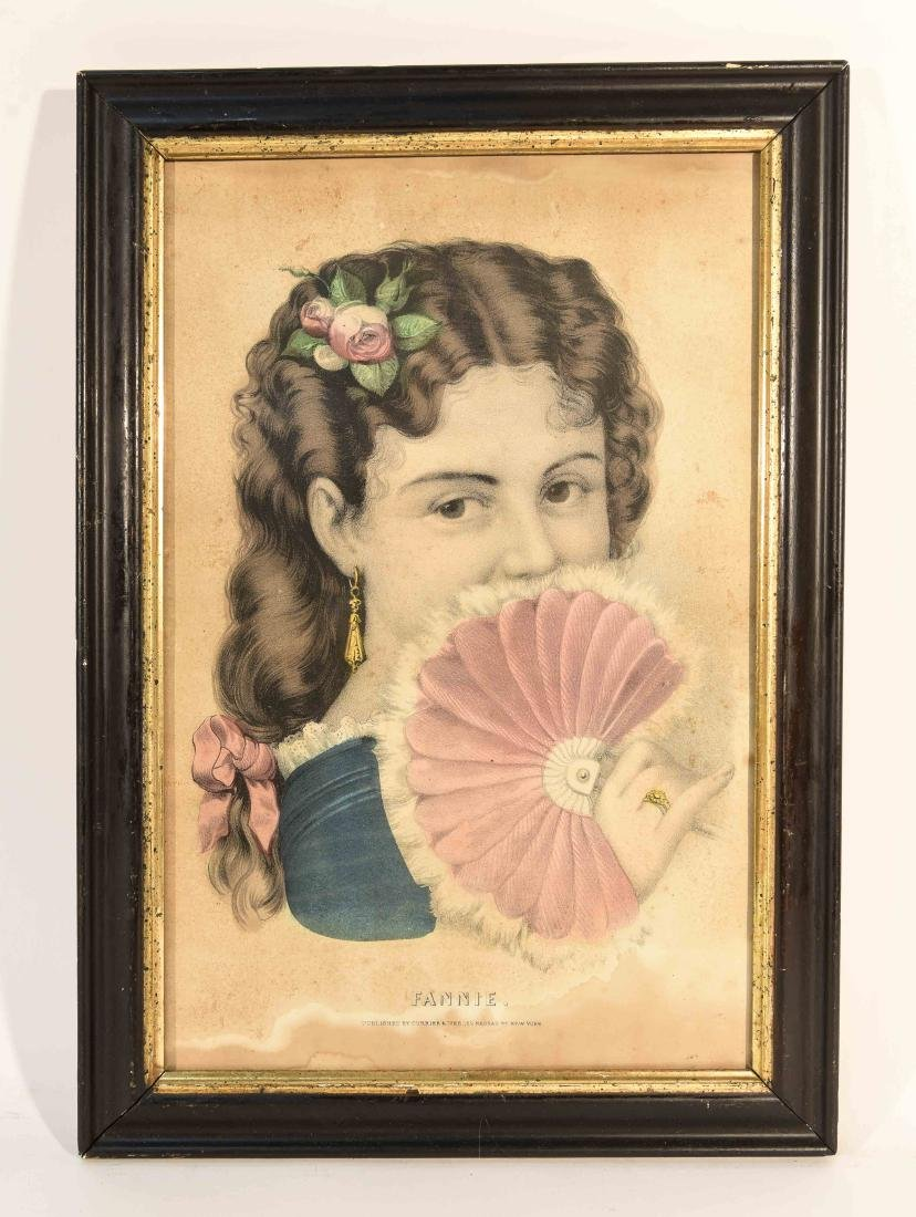 """CURRIER AND IVES """"FANNY"""" PRINT"""