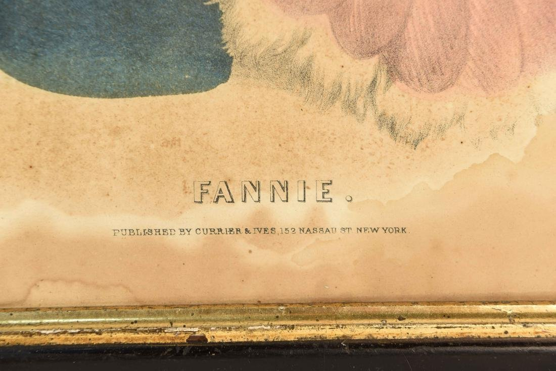 """CURRIER AND IVES """"FANNY"""" PRINT - 6"""