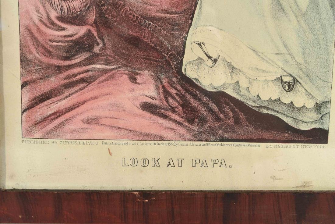 """CURRIER AND IVES """"LOOK AT PAPA"""" PRINT - 6"""