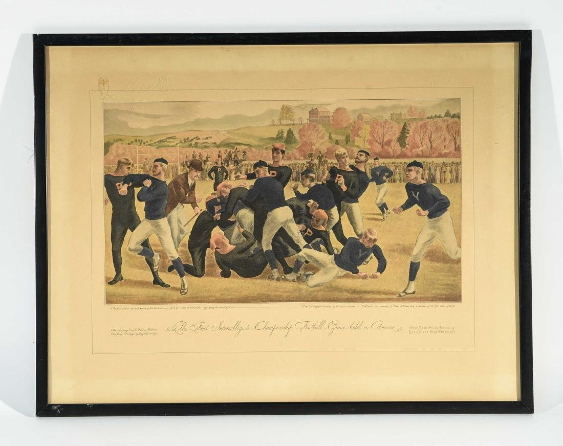 CURRIER & IVES FOOTBALL PRINT