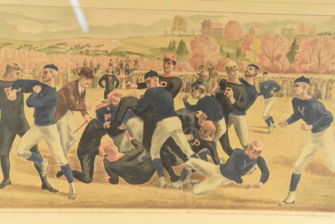 CURRIER & IVES FOOTBALL PRINT - 2