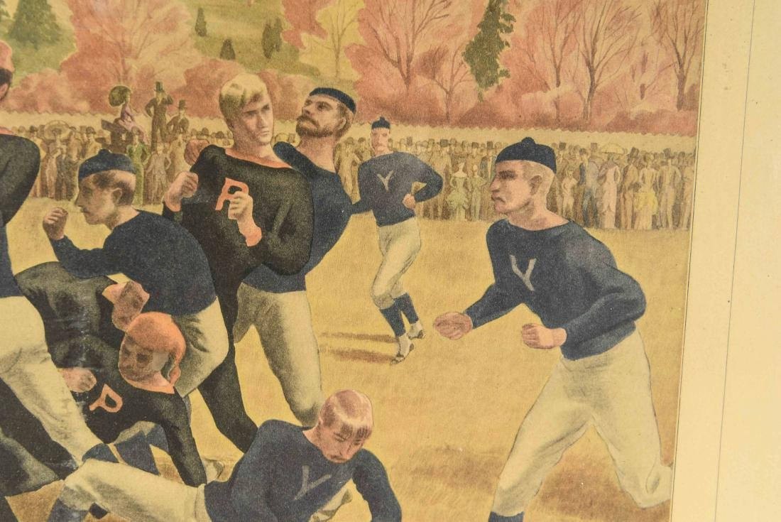 CURRIER & IVES FOOTBALL PRINT - 3