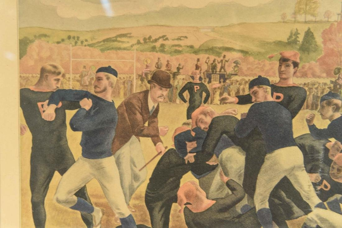 CURRIER & IVES FOOTBALL PRINT - 4