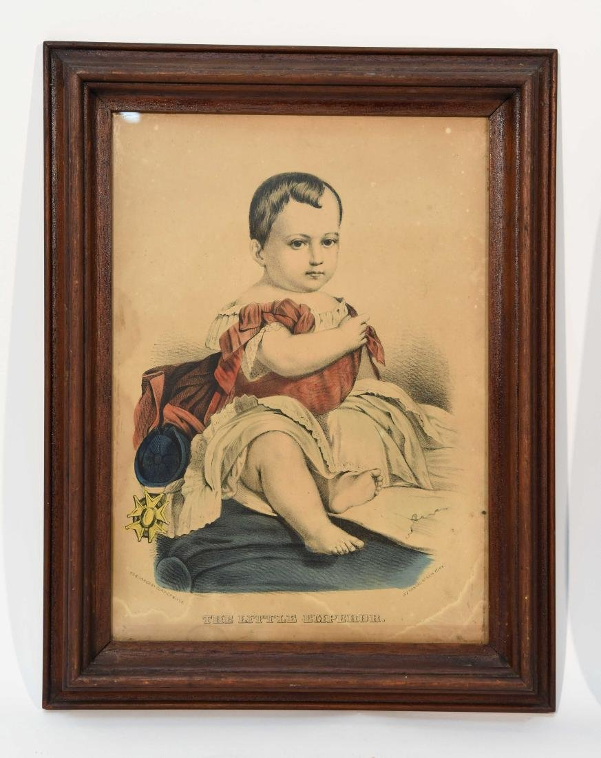 """CURRIER & IVES """"THE LITTLE EMPEROR"""" PRINT"""