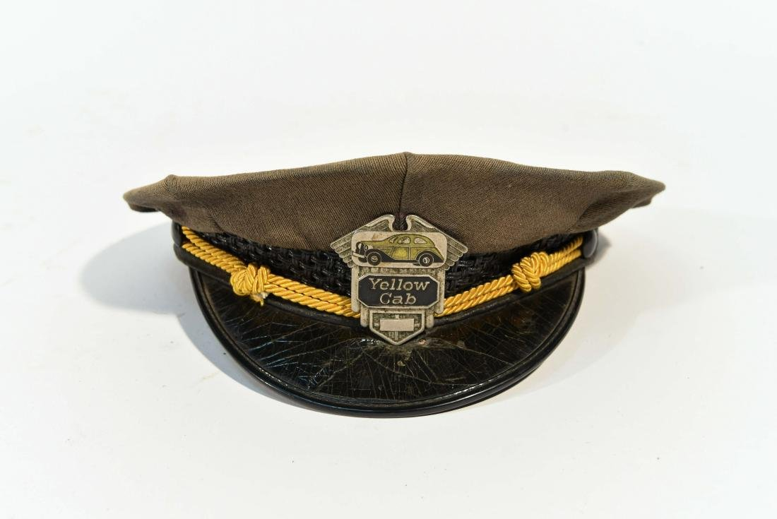 VINTAGE YELLOW CAB DRIVER HAT