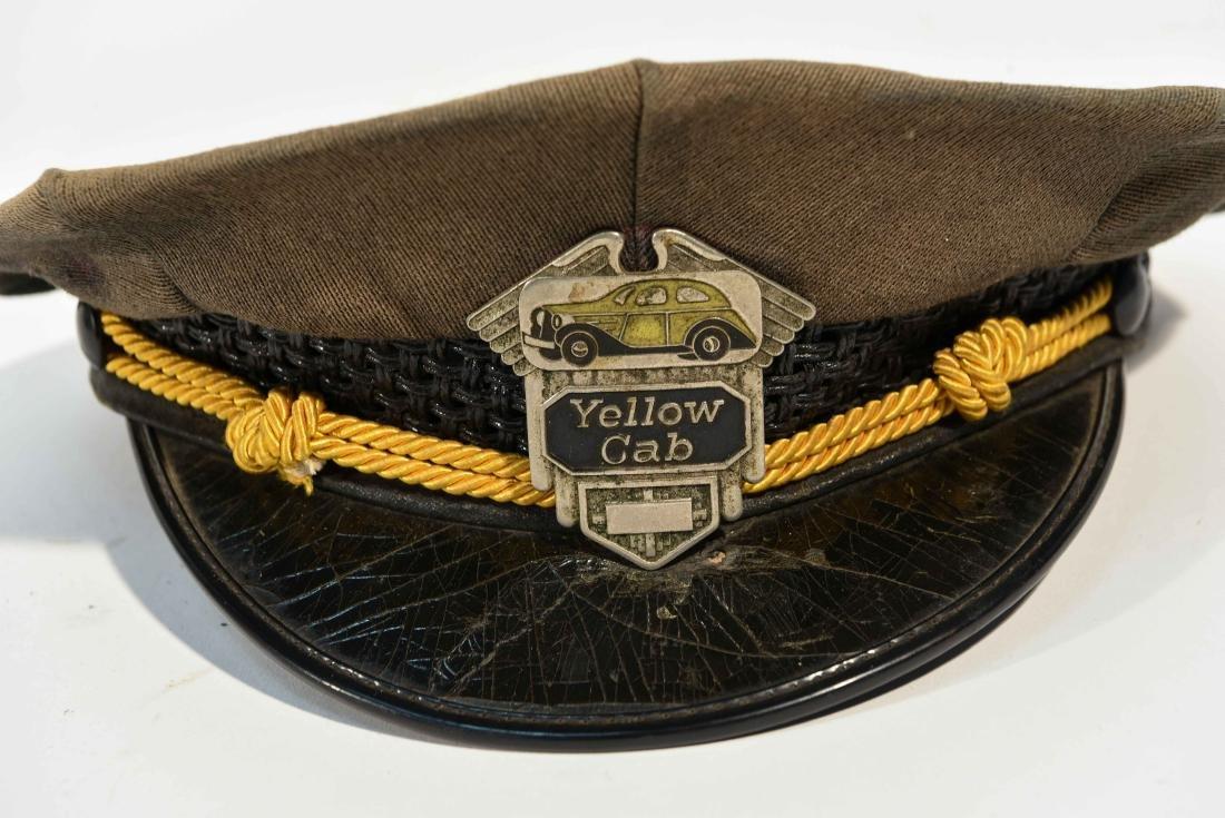 VINTAGE YELLOW CAB DRIVER HAT - 2