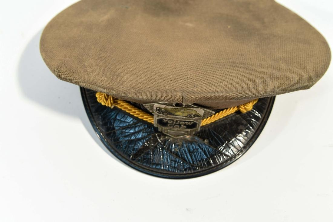 VINTAGE YELLOW CAB DRIVER HAT - 5