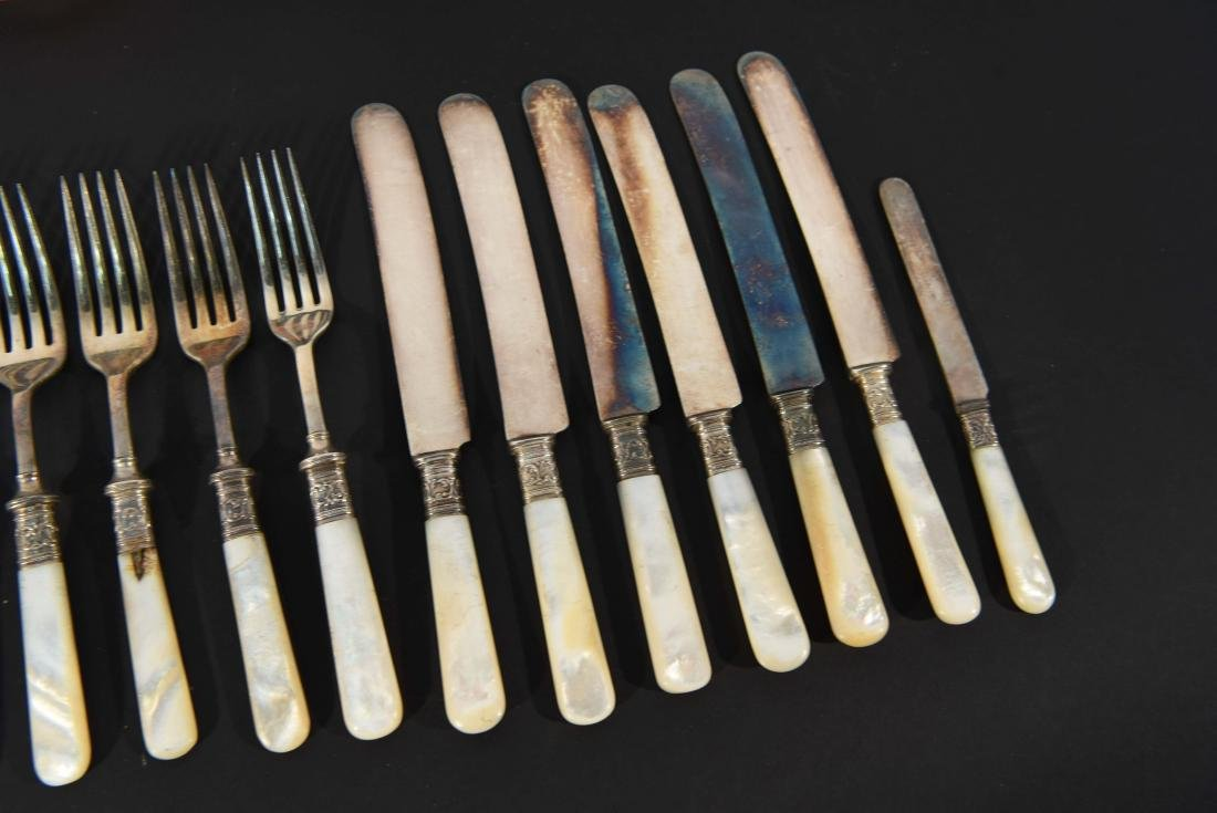 STERLING SILVER & MOTHER OF PEARL CUTLERY - 11