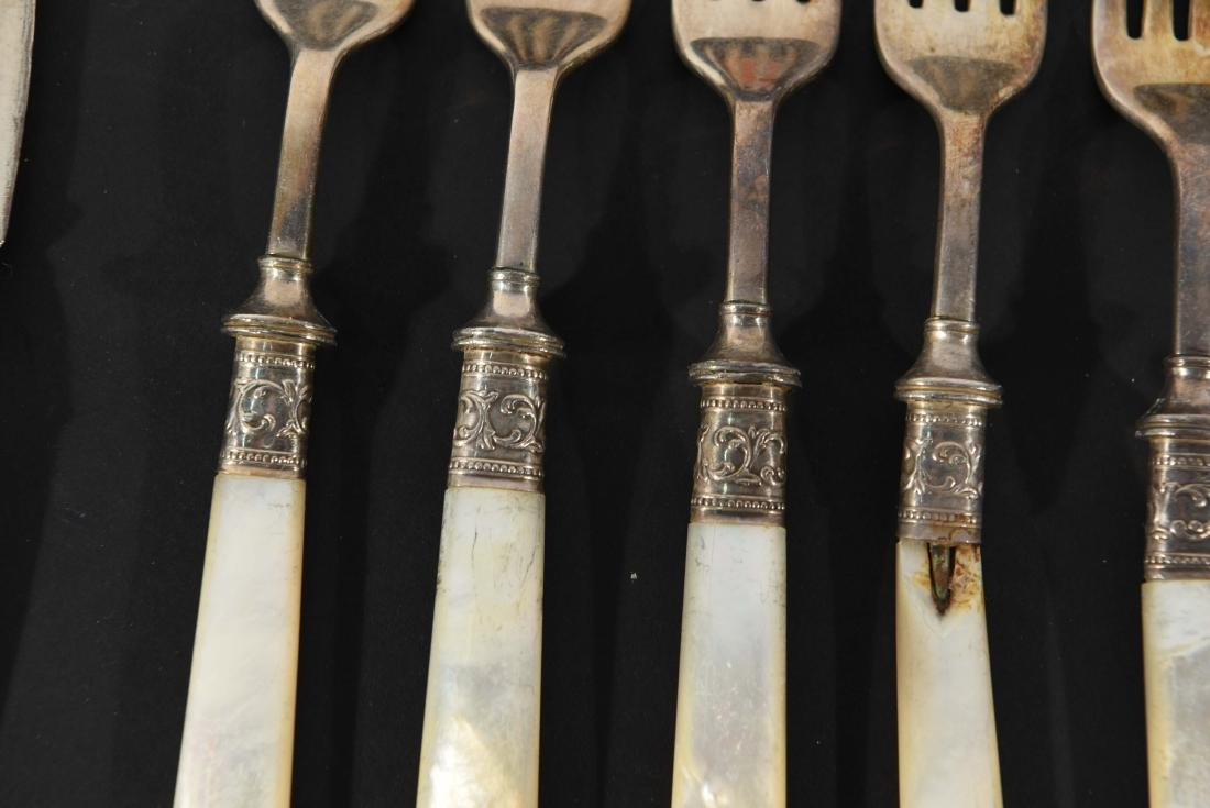 STERLING SILVER & MOTHER OF PEARL CUTLERY - 5