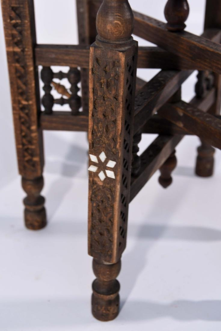 MIDDLE EASTERN BRASS TRAY & STAND - 10