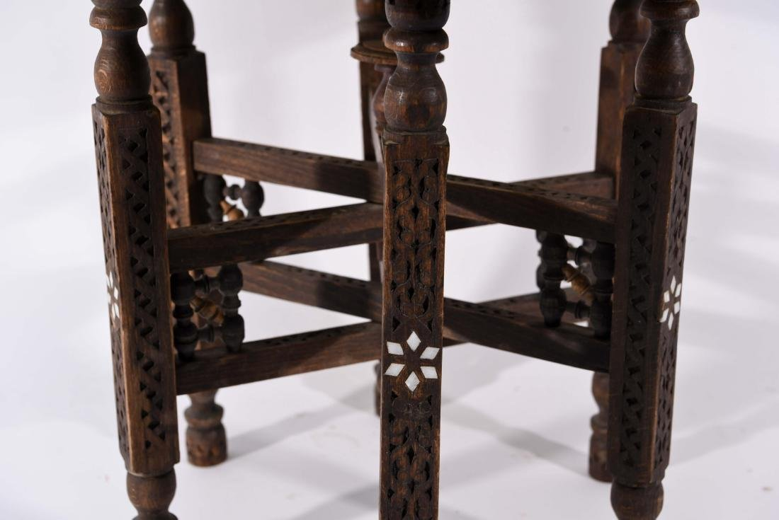 MIDDLE EASTERN BRASS TRAY & STAND - 2