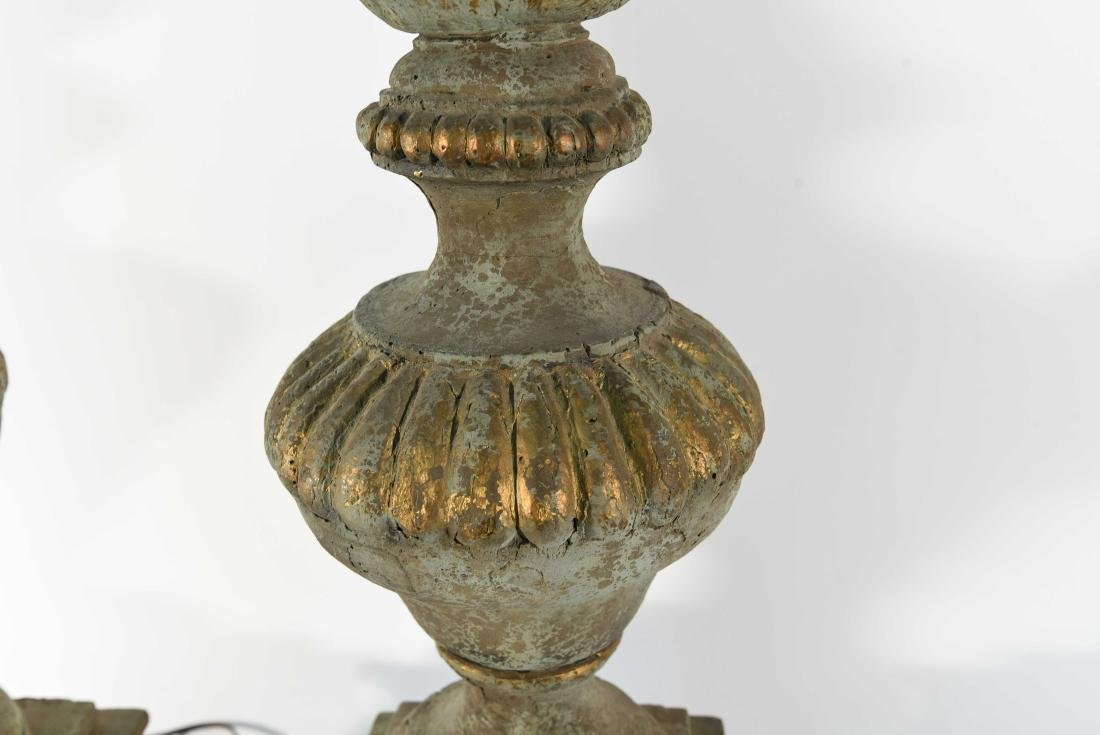 PAIR OF CEMENT LAMPS - 7