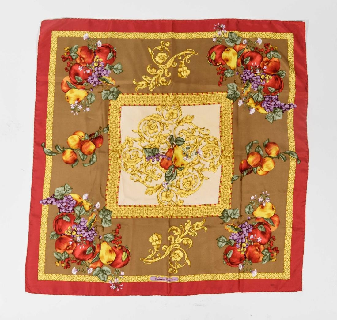 GROUPING OF SILK SCARVES INCL. YVES SAINT LAURENT - 2