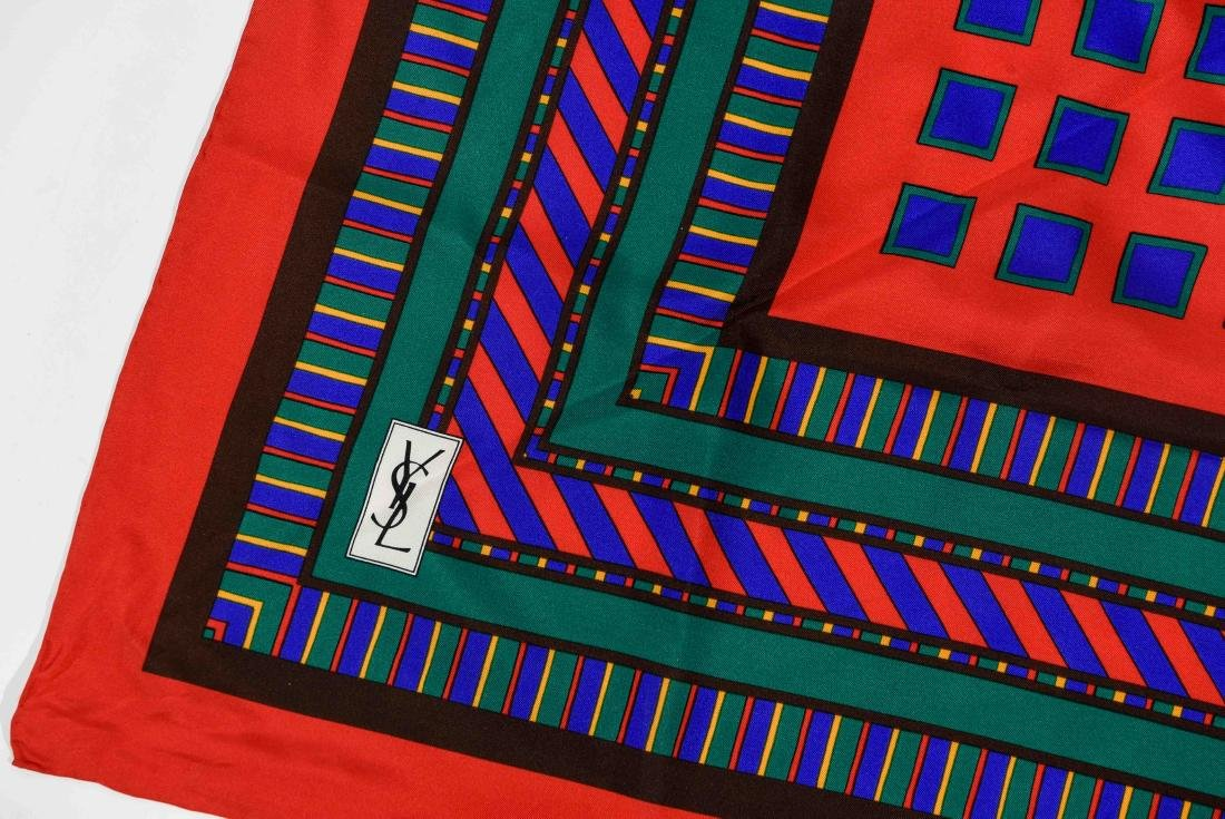 GROUPING OF SILK SCARVES INCL. YVES SAINT LAURENT - 6