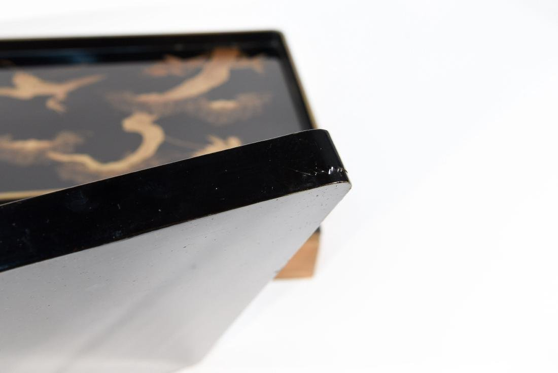 (2) BOXED JAPANESE LACQUER TRAYS - 10
