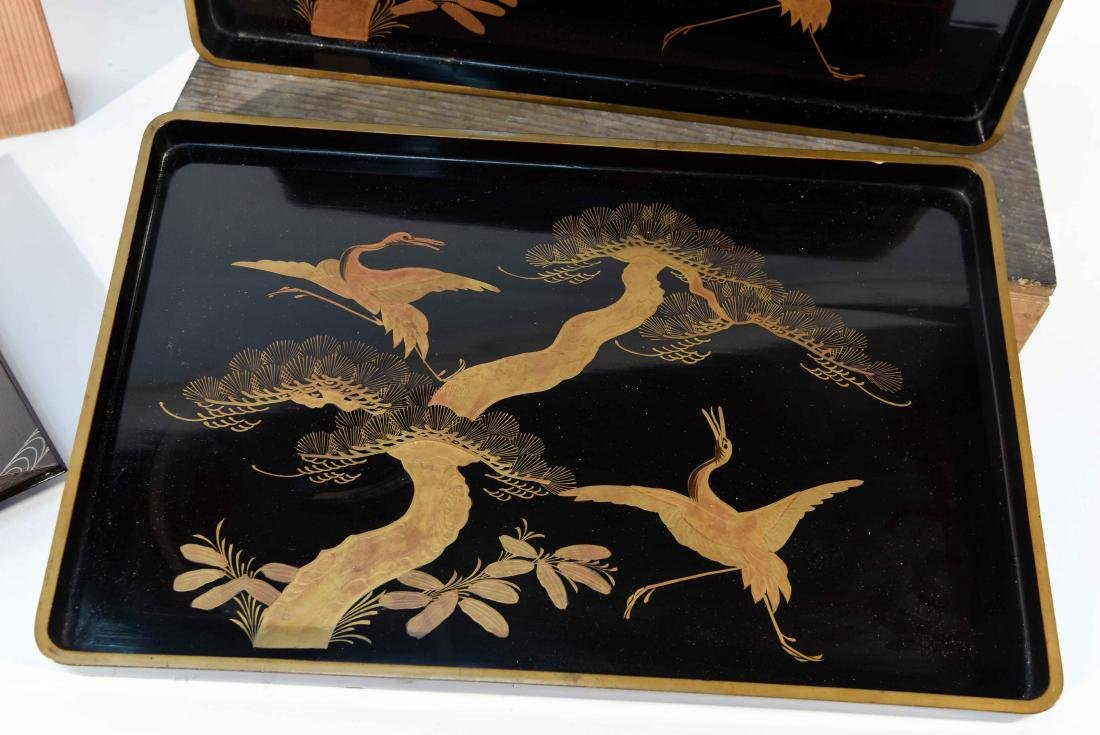 (2) BOXED JAPANESE LACQUER TRAYS - 2