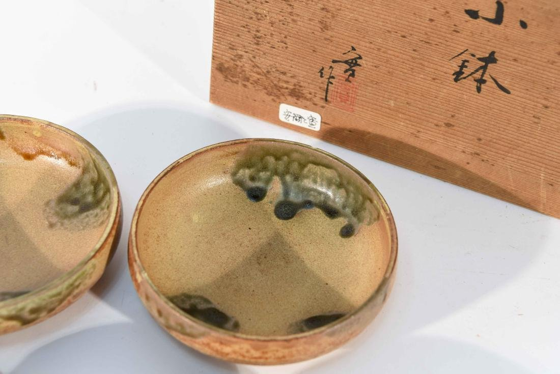 (6) JAPANESE STUDIO POTTERY BOWLS IN BOX - 2