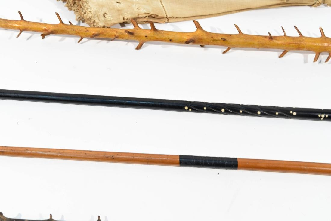 VINTAGE CANE GROUPING - 12