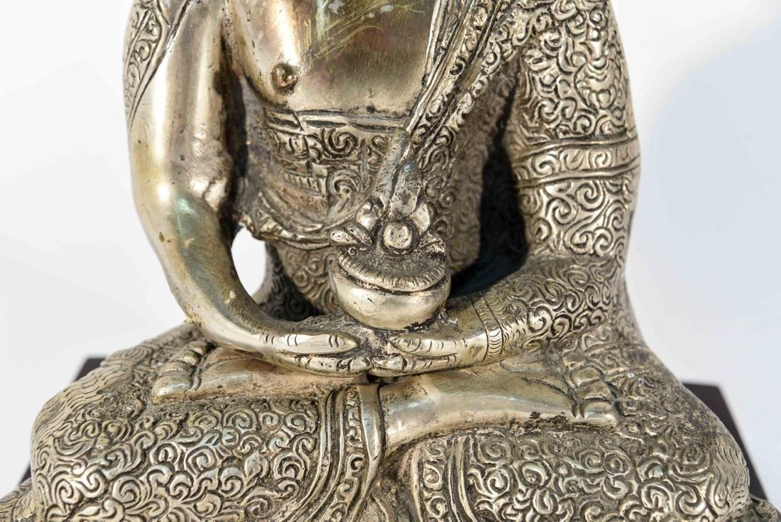 SEATED BRASS BUDDHA SCULPTURE - 4