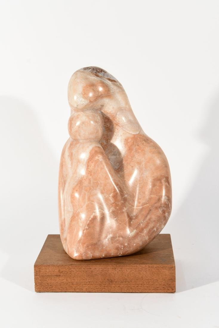 MARBLE SCULPTURE ON STAND