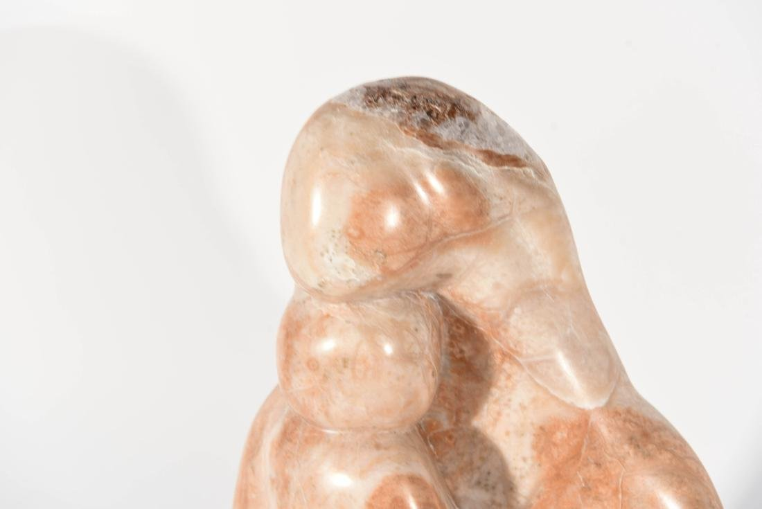 MARBLE SCULPTURE ON STAND - 2