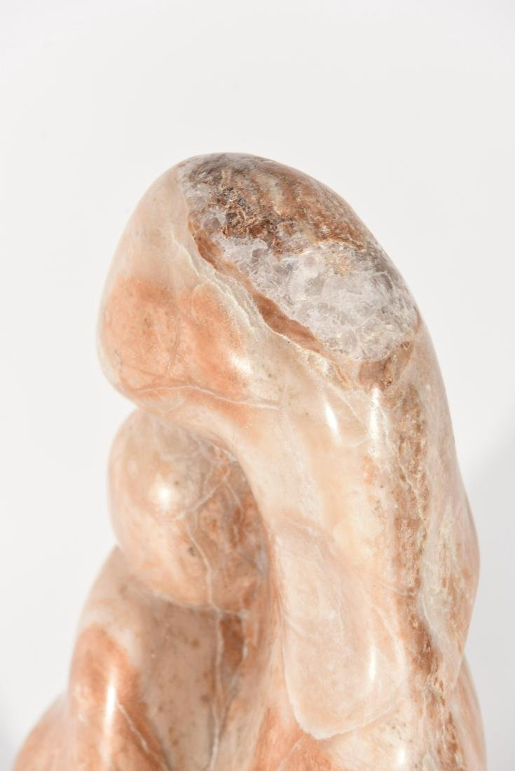 MARBLE SCULPTURE ON STAND - 5