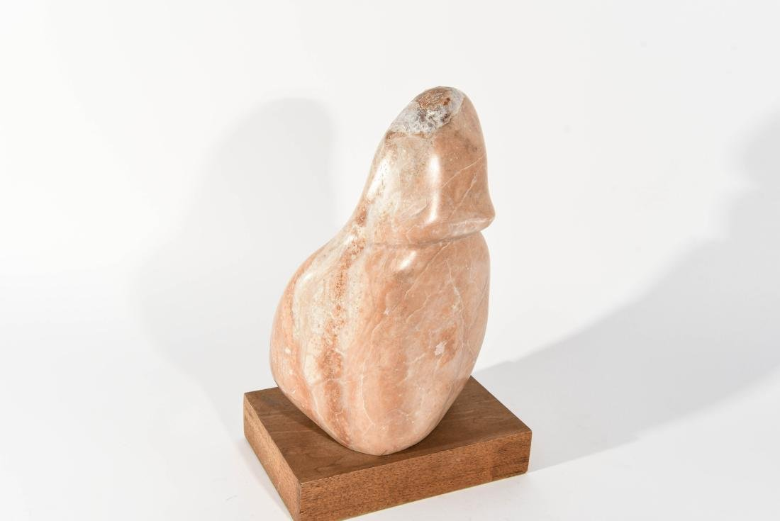 MARBLE SCULPTURE ON STAND - 7