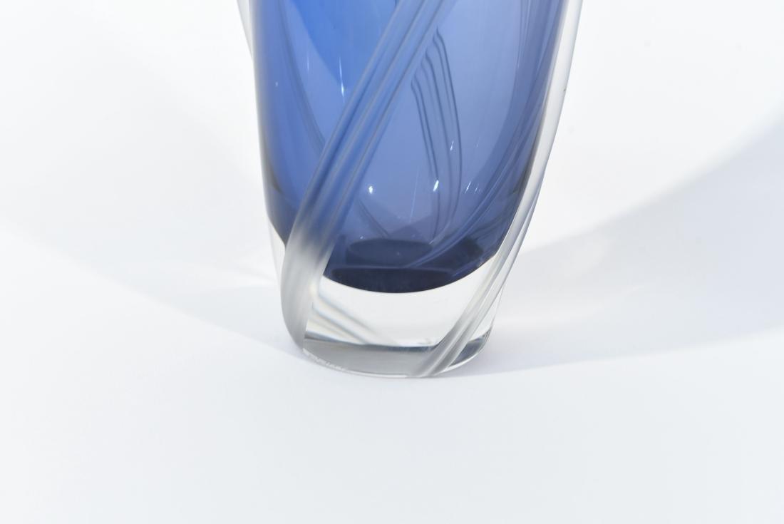 SIGNED ART GLASS VASE - 5