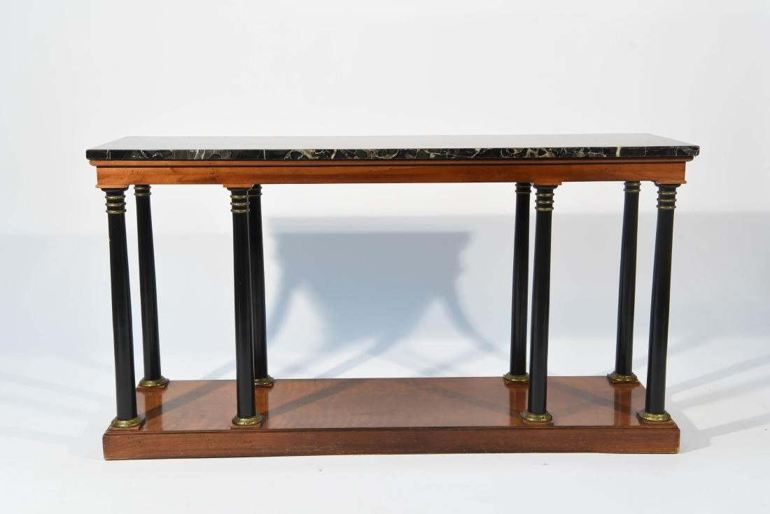 MARBLE TOP CLASSICAL STYLE WOODEN CONSOLE