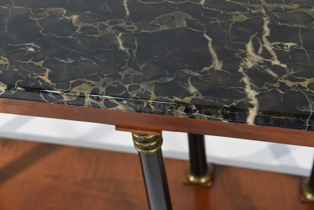 MARBLE TOP CLASSICAL STYLE WOODEN CONSOLE - 3