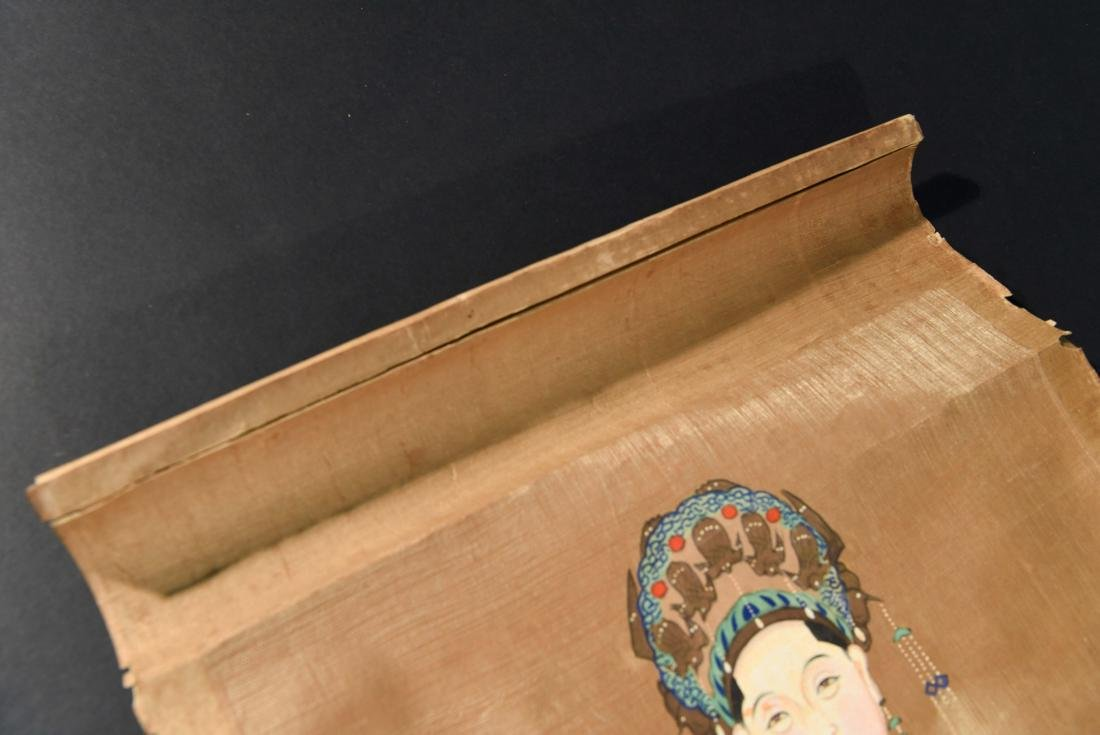 ANTIQUE CHINESE ANCESTOR PAINTING SCROLL - 7