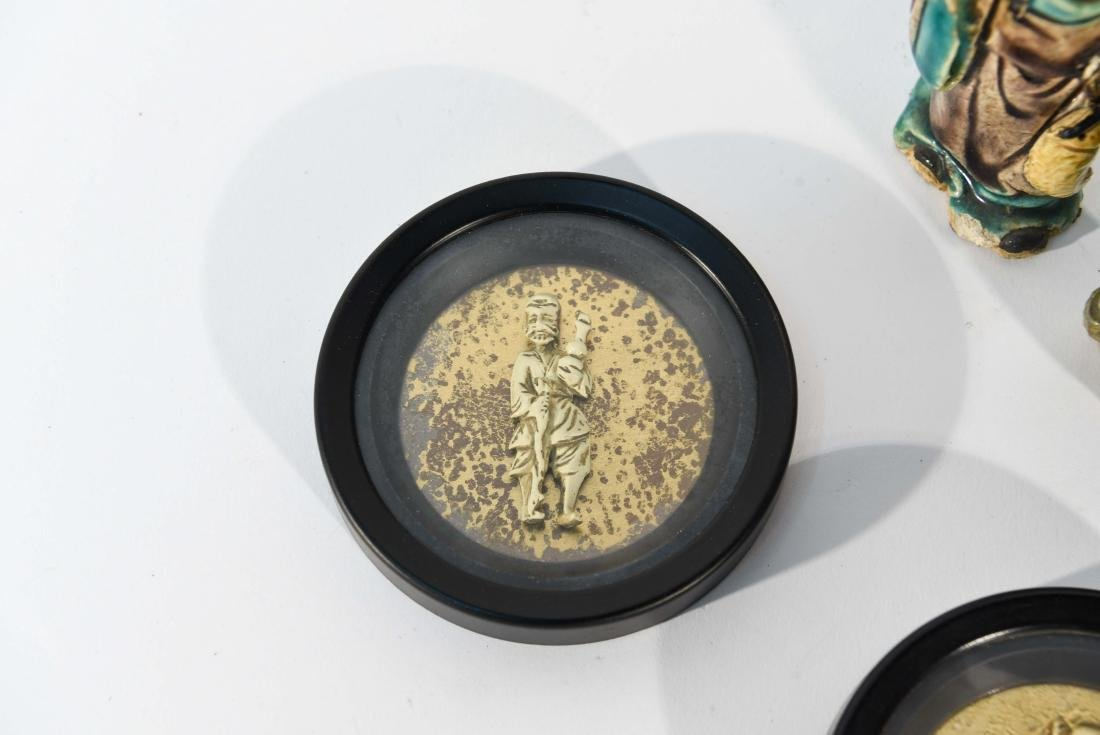 GROUPING OF CHINESE MUD MEN & FIGURAL COASTERS - 2