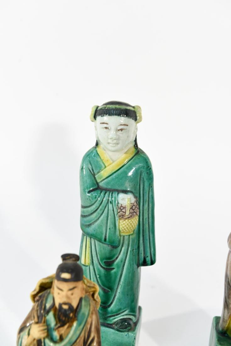 GROUPING OF CHINESE MUD MEN & FIGURAL COASTERS - 7